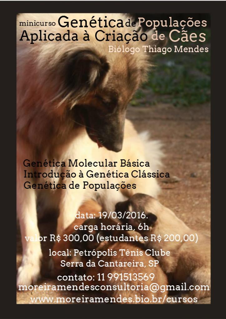 cartaz mini curso genética